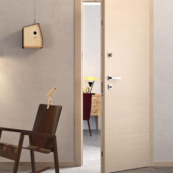 Garofoli - Porta blindata Sovrana con pannello Arca mod. 1L, laccato tortora spazzolato