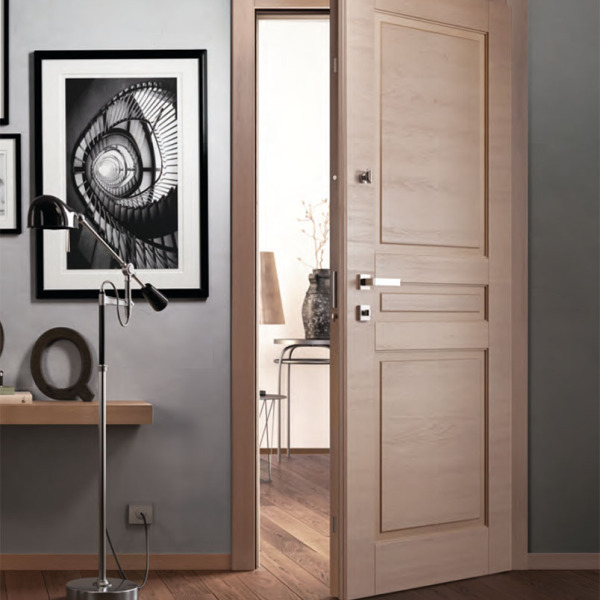 Garofoli - Porta blindata Sovrana con pannello Arca mod. 3B, grigio antico spazzolato
