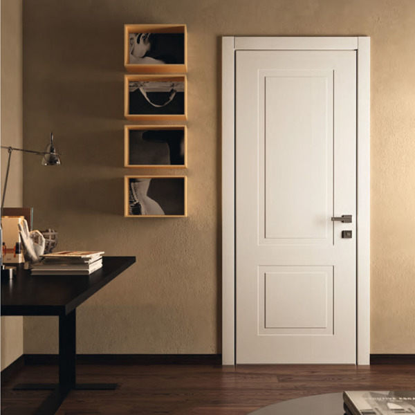 Garofoli - Porta blindata Sovrana con pannello Miraquadra mod. 2B laccato Bianco