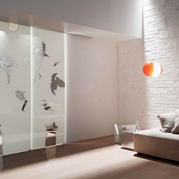 Henry Glass - Collezione Emilio Tadini - Scorrevole esterno muro Inside decoro Fiabe